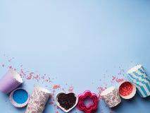 Słodki wypiekowy pojęcie Dziewczęcy styl Zdjęcie Stock
