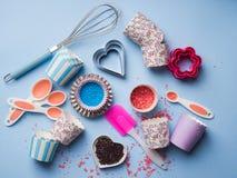 Słodki wypiekowy pojęcie Dziewczęcy styl Fotografia Stock