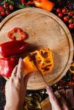 Słodkich pieprzy jarosza żywność organiczna obraz stock