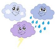 słodkie chmury różnych Zdjęcia Royalty Free
