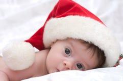 słodkie dziewczyny Santa kapelusz Zdjęcie Stock