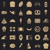 Słodkie kalorie ikon ustawiać, prosty styl ilustracji