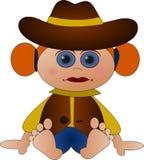 słodkie małe kowbojka Zdjęcia Royalty Free
