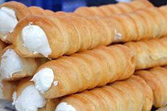 Słodkie piankowe rolki brogować Fotografia Stock