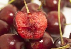 Słodkie wiśnie jako tło z bliska Zdjęcie Royalty Free