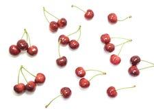 Słodkie wiśnie odizolowywać na białym tle Zdjęcie Stock