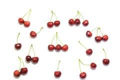 Słodkie wiśnie odizolowywać na białym tle Fotografia Royalty Free