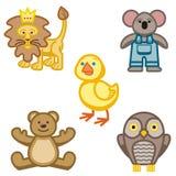 słodkie zwierzęcych ikony Obrazy Stock