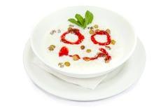 Słodkiego mleka polewka z ryż Zdjęcia Royalty Free