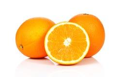 Słodkiej pomarańcze owoc na białym tle Zdjęcie Stock