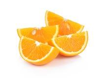 Słodkiej pomarańcze owoc na białym tle Zdjęcia Stock