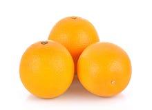 Słodkiej pomarańcze owoc na białym tle Fotografia Stock