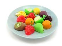 słodycze, owoce obrazy stock