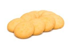 Słodyczy round ciastka odizolowywający zdjęcia stock
