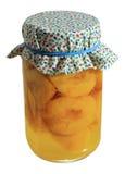 słoik brzoskwinie konserwowane Obrazy Stock
