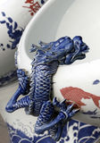 słoik dekoracje porcelanę Fotografia Stock