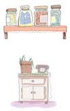 słoiki ilustracja wektor