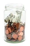 słoju pieniądze Zdjęcie Stock
