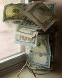 Słoju pieniądze Wishbone Zdjęcia Stock
