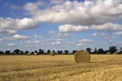 Słoma bele w Suffolk Zdjęcie Royalty Free
