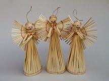 słomiani aniołów boże narodzenia Obrazy Royalty Free