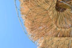Słomiani parasols obrazy stock