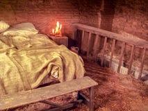 Słomiany łóżko Obrazy Royalty Free
