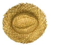 Słomiany kapelusz odgórny widok Obrazy Stock