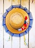 Słomiany kapelusz typowy São João Festade Zdjęcie Royalty Free