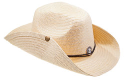 Słomiany kowbojski kapelusz Fotografia Royalty Free