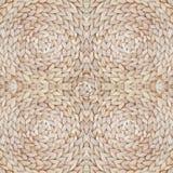 Słomy tekstury deseniowy powtarzać bezszwowy Naturalny wyplatający słomiany tło Obraz Stock