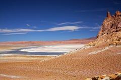 Słone jezioro Salar De Tara, Chile zdjęcia royalty free