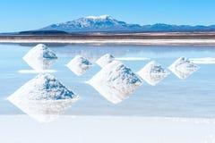 Słone jezioro Uyuni w Boliwia fotografia stock