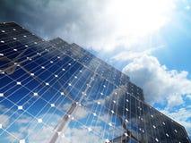 słoneczna alternatywna energia Fotografia Stock