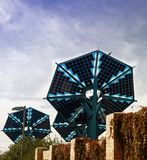 Słoneczna bateria w mieście fotografia royalty free