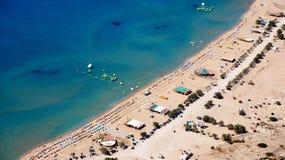 Słoneczna Tsampika plaża Zdjęcia Royalty Free