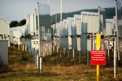 słoneczna władzy stacja Zdjęcie Stock
