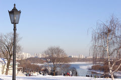 słoneczna zimowy dzień Zdjęcie Stock