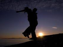 słoneczne światło miłości Zdjęcia Stock