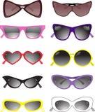 słoneczne okulary ilustracyjny zbierających wektora Zdjęcie Stock