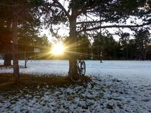 Słoneczni dni w Alta Finnmark Norwegia obrazy stock