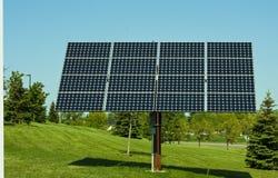 słoneczni energetyczni panel Zdjęcia Royalty Free
