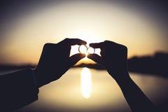 słoneczni pierścionki Zdjęcia Stock