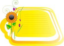 Słonecznik obramiający Zdjęcia Stock