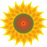 Słonecznik Odizolowywający, logo, tapeta royalty ilustracja