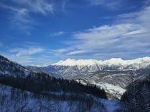 Słoneczny dzień na górach Obrazy Royalty Free