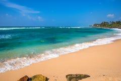 Słoneczny dzień na tropikalnej plaży Fotografia Stock