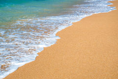Słoneczny dzień na tropikalnej plaży Obrazy Royalty Free