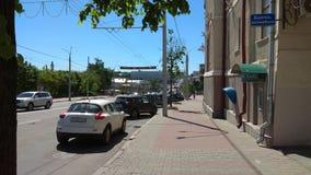 Słoneczny dzień na ulicach Vitebsk zdjęcie royalty free