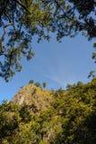 Słoneczny dzień przy Doi Pha Ngom Chiang Raja prowincją Tajlandia Zdjęcia Royalty Free